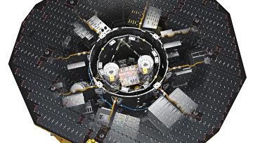 Гравителескоп LISA Pathfinder в развернутом виде
