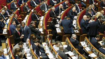 Заседание Верховной Рады Украины в Киеве, 16 февраля 2016. Архивное фото