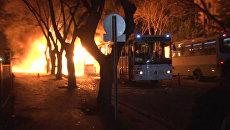 Заминированный автомобиль взорвался в центре Анкары. Кадры с места ЧП