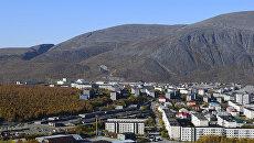 Вид на город Кировск. Архивное фото