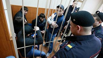 Рассмотрение ходатайства следствия о продлении срока ареста фигурантам дела об убийстве политика Бориса Немцова. Архив