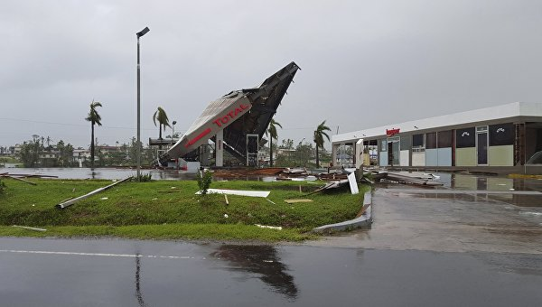 Последствия циклона на Фиджи