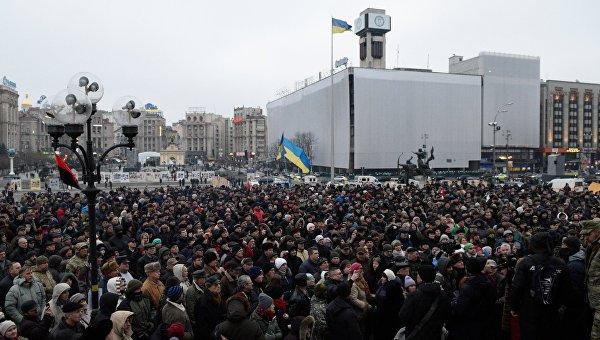 Народное вече радикалов на Майдане Незалежности в Киеве. Архивное фото