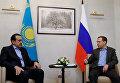 Премьер-министр РФ Д. Медведев встретился с премьер-министром Казахстана К. Масимовым в Сочи
