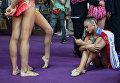 Российская спортсменка Александра Солдатова после окончания соревнований турнира Гран-при Москвы по художественной гимнастике