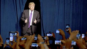 Кандидат в президенты от Республиканской партии Дональд Трамп в Лас-Вегасе, Невада, США. 23 февраля 2016