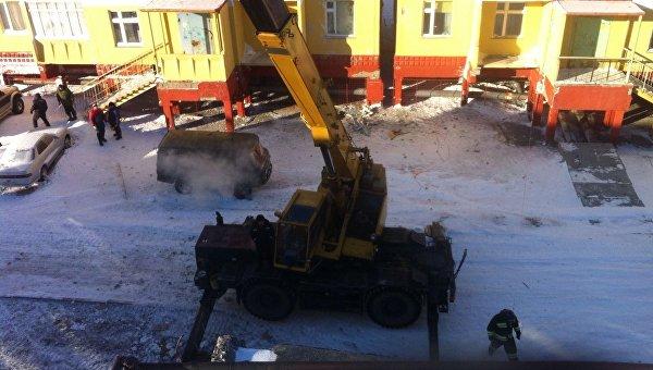 Ликвидация последствий обрушения здания на Чукотке. Архивное фото