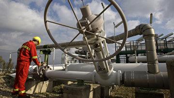 Рабочий на станции по добыче природного газа в Текирдаге. Турция. Архивное фото