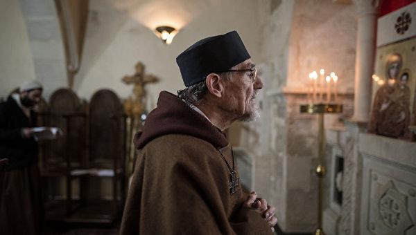 Католический монастырь в городе Кара в Сирии