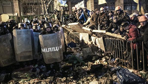 События Евромайдана в Киеве в 2013 году. Архивное фото