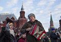 Мужчина на Красной площади в Москве