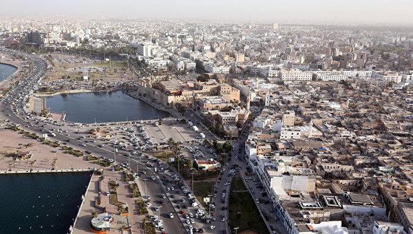 Вид на город Триполи, Ливия. 25 февраля 2016