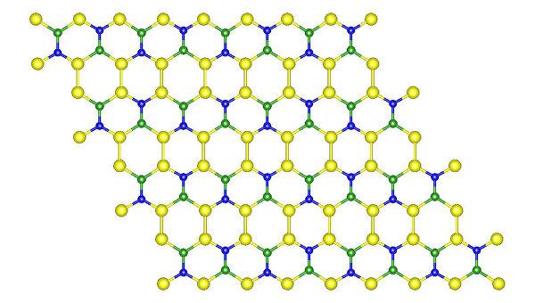 Атомная структура тройного аналога графена