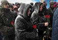 Церемония прощания с шахтерами, погибшими в результате аварии на шахте Северная