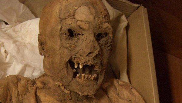 Мумия 18 века, в которой ученые нашли следы рака прямой кишки