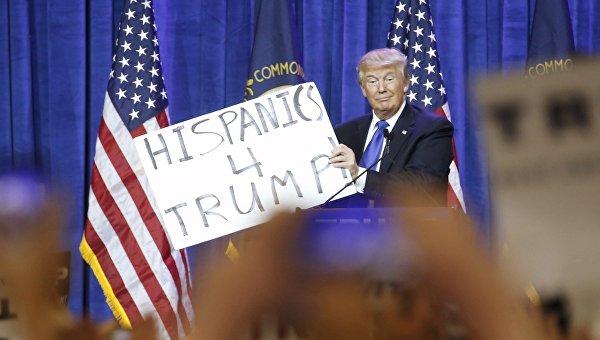 Выступление Дональда Трампа перед избирателями