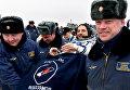 Капсула корабля Союз ТМА-18М. Участник годовой миссии Михаил Корниенко. 2 марта 2016