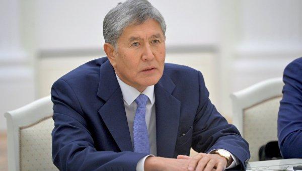 Президент Киргизской Республики Алмазбек Атамбаев