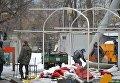 Демонтаж аттракционов на ВДНХ в Москве
