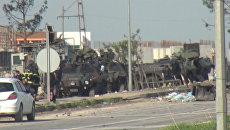 Заминированная машина взорвалась у поста полиции в Турции. Кадры с места ЧП