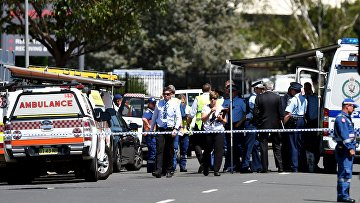 Полиция на месте стрельбы на востоке Сиднея в провинции Инглберн в Австралии