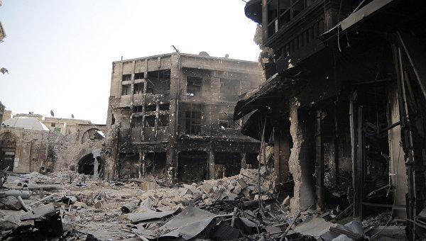 Разрушения в старом городе Алеппо. Архивное фото