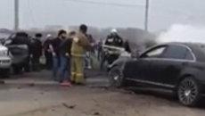 Очевидец снял работу пожарных на месте взрыва машины в Назрани