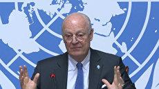 Возвращение к войне –  спецпосланник ООН Де Мистура о плане Б по Сирии