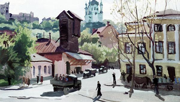 Картина Шавыкина Киев. Подол