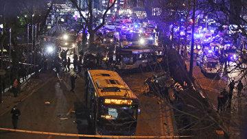 На месте теракта в Анкаре, 13 марта 2016. Архивное фото
