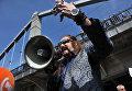Актер и певец Никита Джигурда выступает на митинге против бытового хамства в Гайд-парке, который открылся в Центральном Парке культуры и отдыха им. Горького