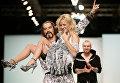 Певцы Никита Джигурда и Ксения Новикова во время показа моделей Yanastasia в рамках Недели моды в Москве