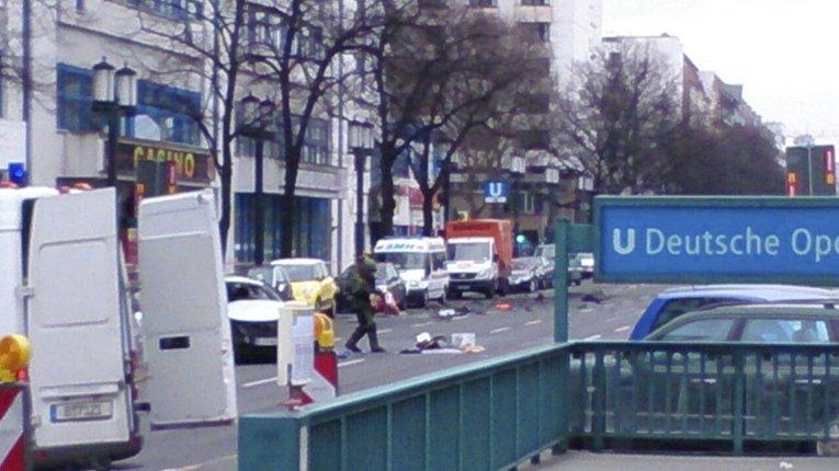 На месте взрыва автомобиля в Германии. 15 марта 2016