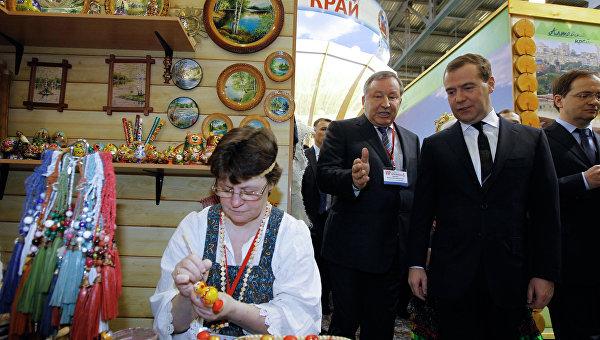 Посещение Д.Медведевым выставки Интурмаркет (ITM) - 2013