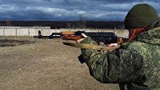 Военнослужащая народной милиции ЛНР. Архивное фото