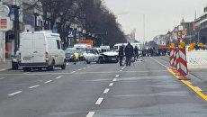 Легковой автомобиль взорвался в Берлине. Кадры с места ЧП