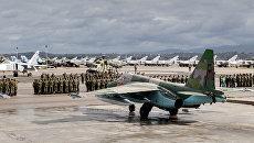 Подготовка экипажей ВКС России к вылету на Родину с авиабазы Хмеймим. Архивное фото