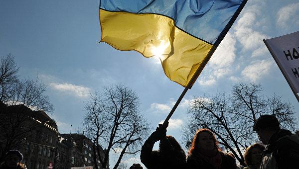 Участники акции протеста в Украине. Архивное фото