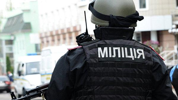 Сотрудники правоохранительных органов МВД Украины в Донецке, архивное фото