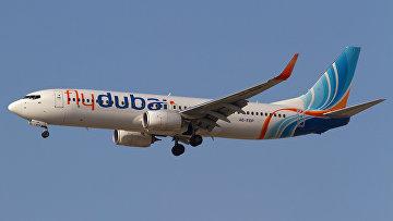 Пассажирский самолет авиакомпании Fly Dubai