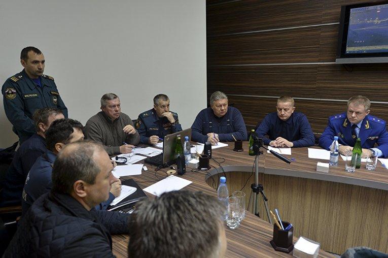 Заседание штаба по расследованию причин авиакатастрофы в аэропорту Ростова-на-Дону