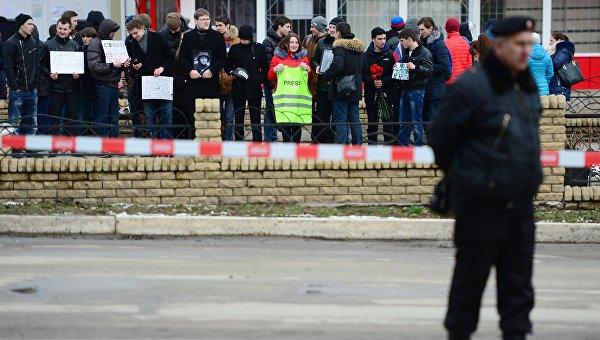 Акция в поддержку обвинительного приговора гражданке Украины Надежде Савченко. 21 марта 2016