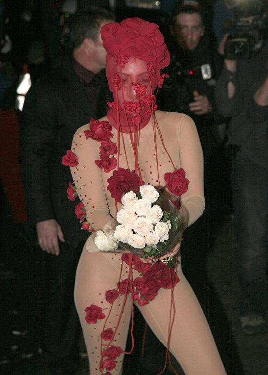 Певица Леди Гага в Нью-Йорке, 2014 год