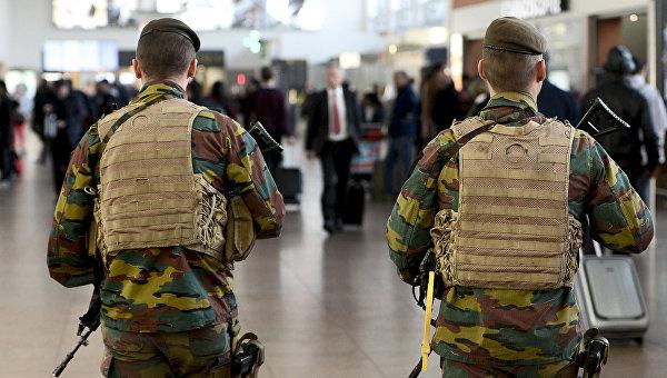 Военные в аэропорту Брюсселя