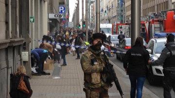 Полиция на месте взрыва в Брюсселе, Бельгия. 22 марта 2016