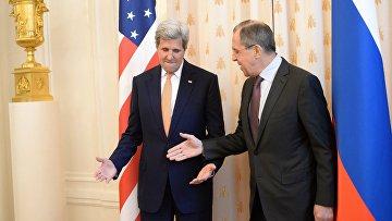 Встреча главы МИД РФ С.Лаврова с Государственным секретарем США Дж.Керри