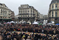 Минута молчания в центре Брюсселя