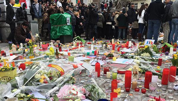 Минута молчания в центре Брюсселя. Архивное фото