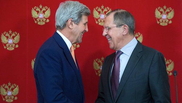 Пресс-конференция главы МИД РФ С. Лаврова и госсекретаря США Д. Керри в Москве. Архивное фото