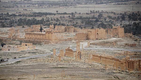 Освобожденная от боевиков древняя часть Пальмиры
